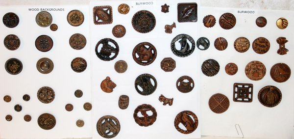 093016: BURWOOD & WOOD BACKGROUND BUTTONS 57 ON CARDS