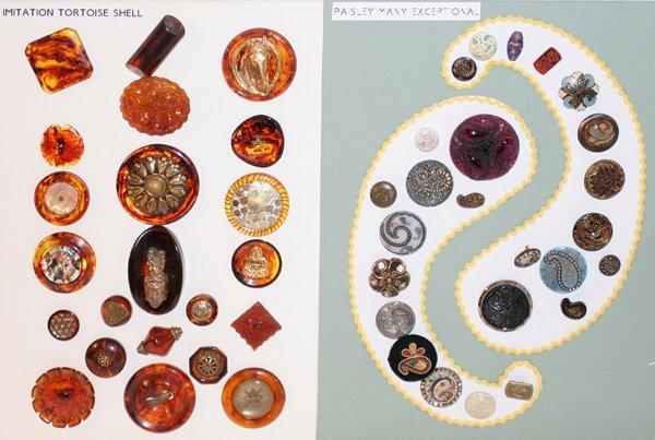 093018: IMITATION TORTOISE SHELL & PAISLEY BUTTONS