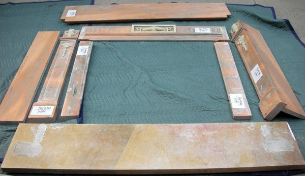 091011: FEDERAL STYLE MARBLE FIREPLACE SURROUND