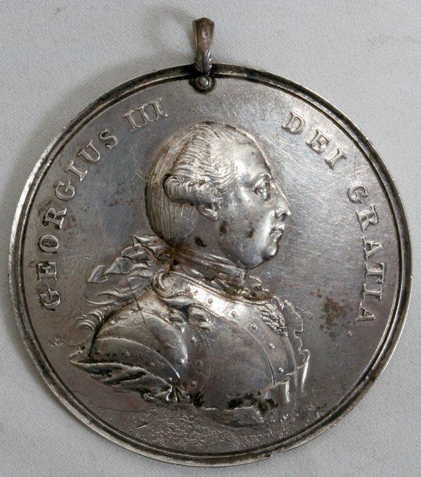 091242: GEORGIUS III, DEI GRATIA SILVER MEDALLION