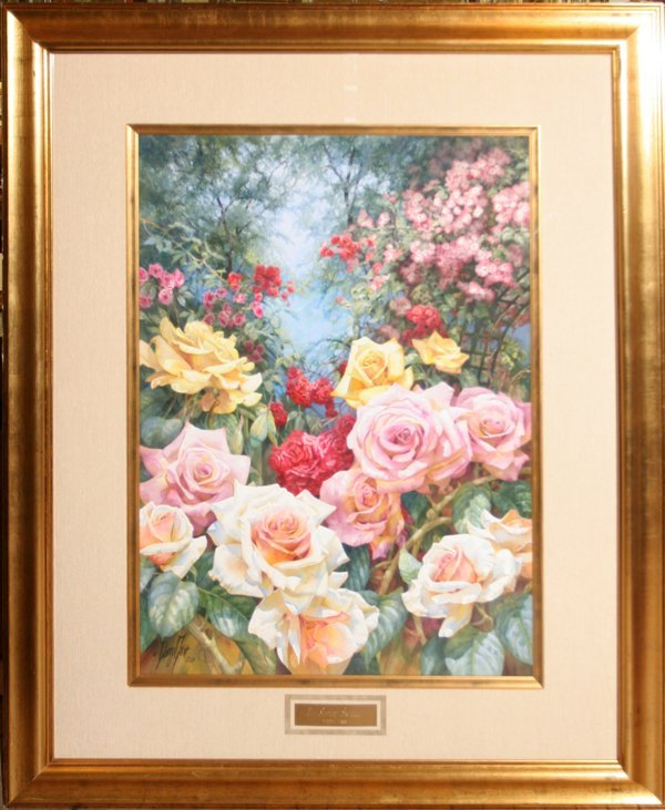 """092009: DARRYL TROTT WATERCOLOR """"THE SCENTED ARCHWAY"""""""
