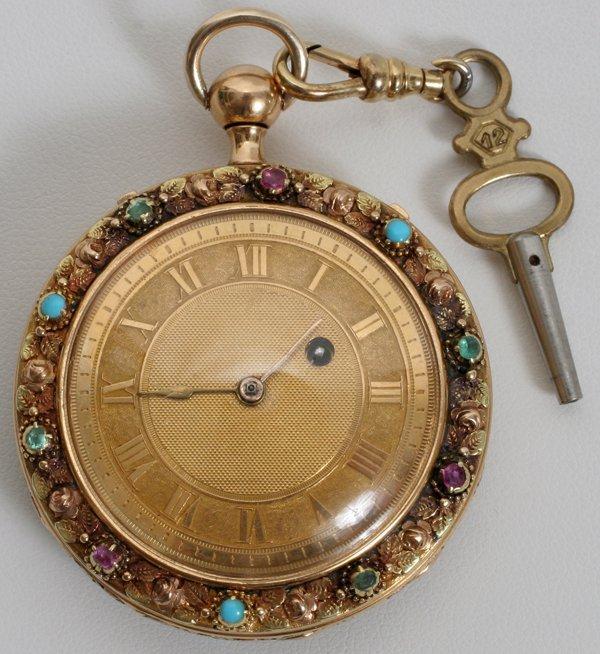 092021: L. MOYNIER & BOUTTEL GOLD POCKET WATCH