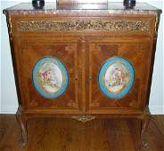 092027: FRENCH LOUIS XV STYLE TULIPWOOD CABINET