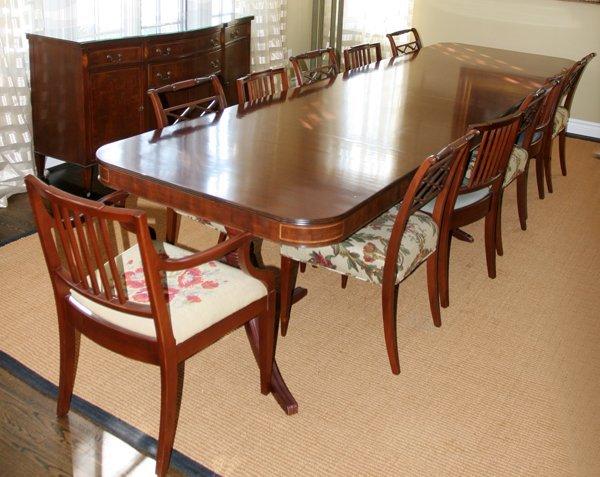 092147 hepplewhite style mahogany dining room set lot 92147