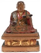JAPANESE LACQUER OVER HAND CARVED WOOD SCULPTURE