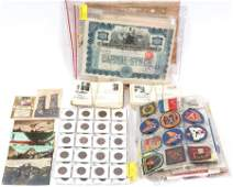 UNCIRCULATED COINS,1ST.DAY-COVERS POSTCARDS