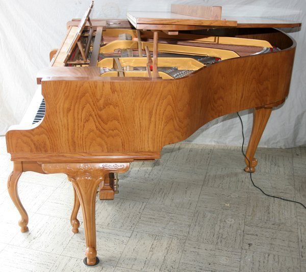 100006: YOUNG CHANG, OAK PLAYER PIANO AND BENCH