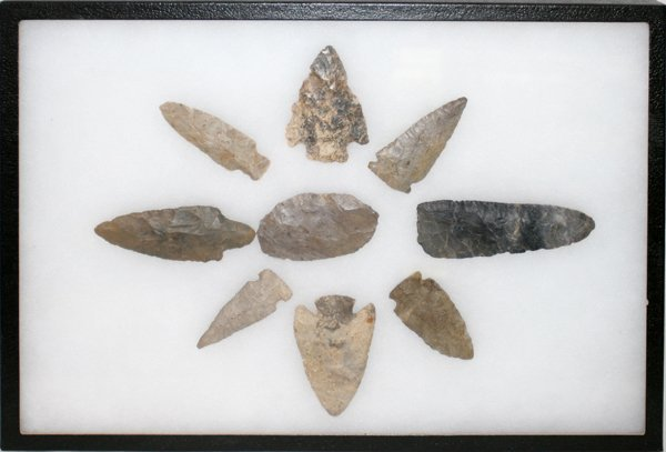 100171: NATIVE AMERICAN INDIAN STONE SPEAR HEADS