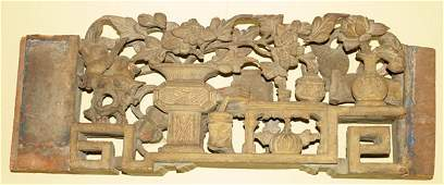 101279 CHINESE ARCHITECTURAL DETAIL IN CARVED WOOD