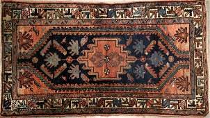 101572 HAMADAN PERSIAN WOOL RUG C 1940 4 5