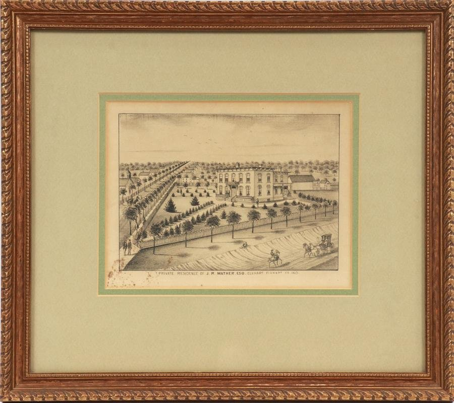 LITHOGRAPH: PRIVATE RESIDENCE OF J. R. MATHER ESQ.