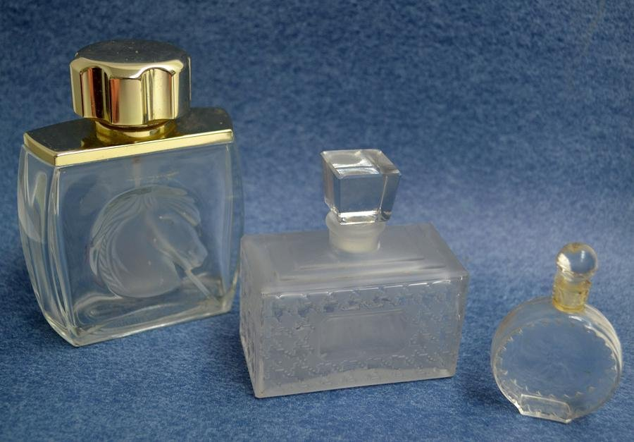 LALIQUE AND CHRISTIAN DIOR, PERFUME BOTTLES