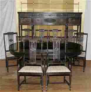 MAHOGANY DINING ROOM SET, C.1910, 15 PCS.