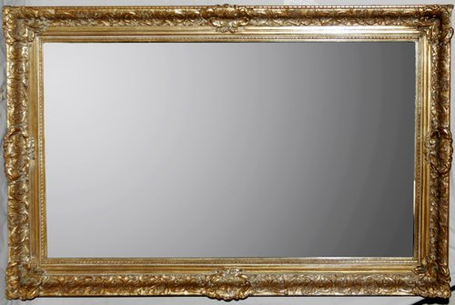 020020: LABARGE GILT WOOD FRAME MIRROR WITH BEVELED GLA