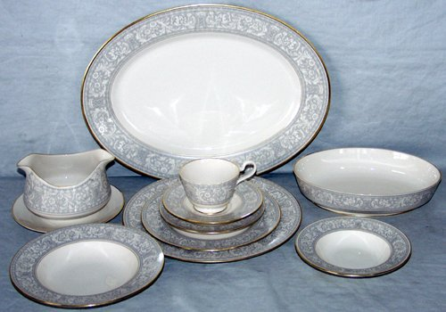 "020024: FRANCISCAN PORCELAIN CHINA, ""GREY RENAISSANCE"","
