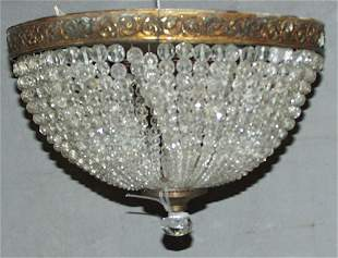 FRENCH HAND CUT BEADED CRYSTAL CHANDELIER DOME