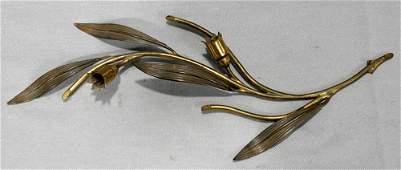 021575 VICTORIAN GILT METAL EPERGNE FRAME CIRCA 1870