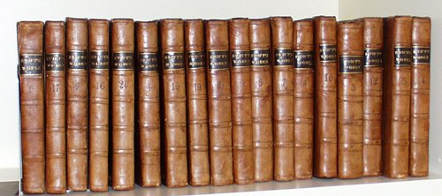021613: WORKS OF DR. J. SWIFT, 20 VOLUMES, 1763, LEATHE