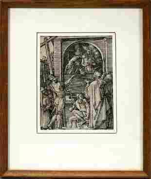 "ALBRECHT DURER, WOODCUT, 1511, 5"" X 3 3/4"", ""ECC"