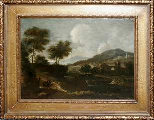 FRENCH SCHOOL, OIL ON CANVAS, 17TH/18TH C., 19 1