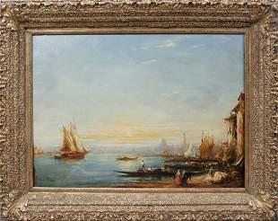 FELIX ZIEM (FRENCH 1821-1911), OIL ON CANVAS, GR