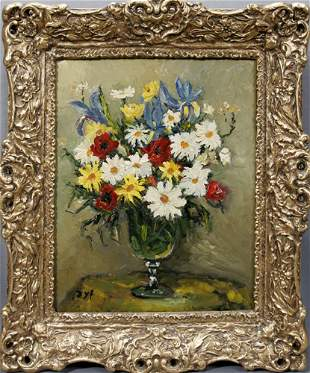 """MARCEL DYF (FRENCH 1899-1985), OIL ON CANVAS, """"F"""