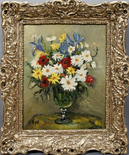 "22015: MARCEL DYF (FRENCH 1899-1985), OIL ON CANVAS, ""F"