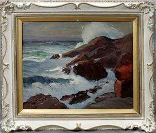 IN THE MANNER OF EDGER A. PAYNE, OIL ON BOARD, S