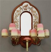 CLARKE'S PATENT FAIRY LAMPS ASSEMBLED ON BRASS SCONCE