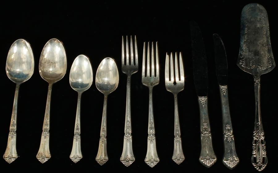 STATE HOUSE 'STATELY' STERLING FLATWARE, 41 PCS