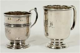 "BIRMINGHAM STERLING SILVER CUPS 2 H 2.75"""