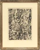 JEAN DUBUFFET LITHOGRAPH ON PAPER 1959