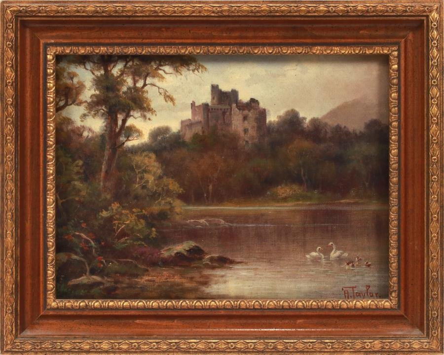 ALEC TAYLOR OIL ON CANVAS, INVERGARRY CASTLE