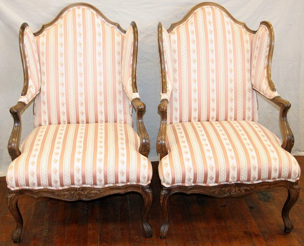 110013: BAKER FRENCH PROVINCIAL STYLE ARM CHAIRS