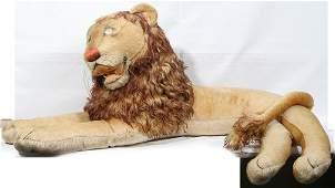 STEIFF STUFFED ANIMAL (RECLINING LION) C1955