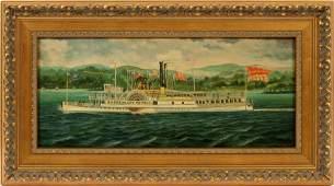 J CLARK OIL ON BOARD H 8 W 18 MARY POWELL