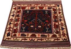 PERSIAN HAND WOVEN ORIENTAL RUG C 1970