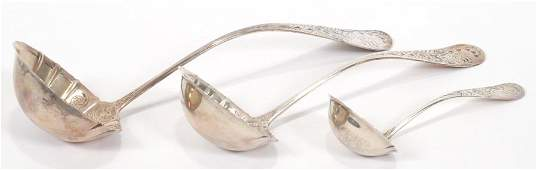 WHITING GORHAM STERLING SOUP AND SAUCE LADLES