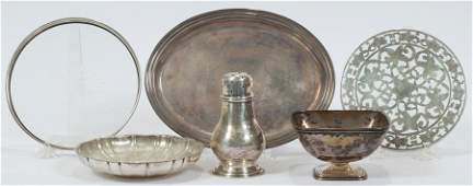 WALLACE AND TOWLE STERLING BOWLS, FISHER TRAY, ECT