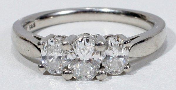 120015: BRILLIANT CUT 1 CT  DIAMOND & PLATINUM RING