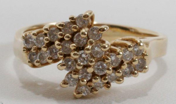 120018: 14K YELLOW GOLD & .48 CT DIAMOND DINNER RING