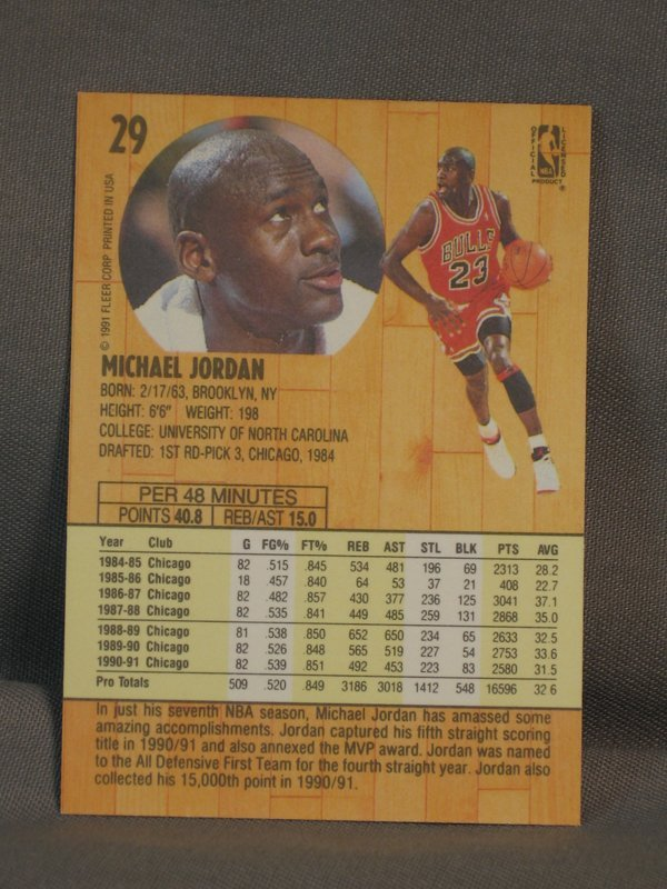 120064: BASKETBALL CARDS, MICHAEL JORDAN, M JOHNSON - 2