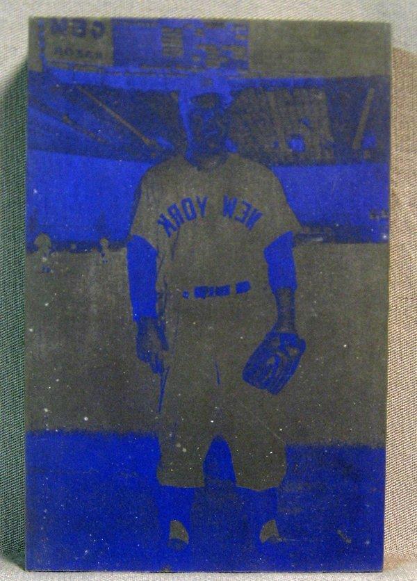 120090: WOOD DIE PLATES FOR BASEBALL CARDS, YANKEES