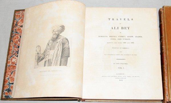 121008: 'TRAVELS OF ALI BEY  WRITTEN BY HIMSELF, 1816