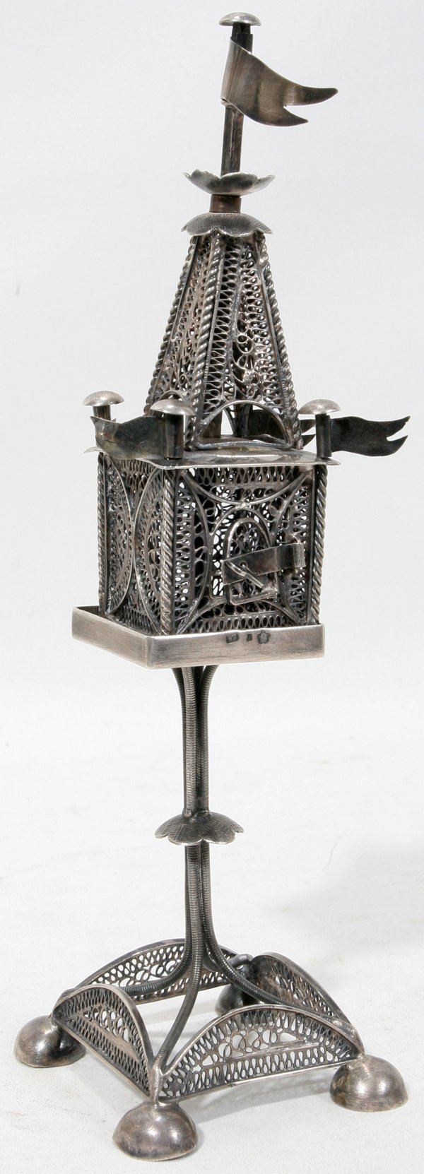 121014: AUSTRIA JUDAICA .800 SILVER SPICE TOWER