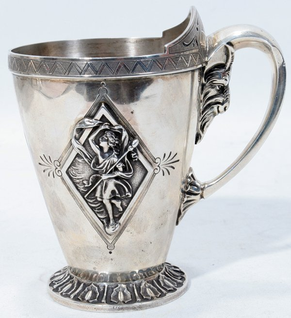 """121017: PETER L. KRIDER SILVER BABY CUP C. 1850, H 4"""""""