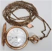 121545: WALTHAM GOLD-FILLED POCKET WATCH, C. 1900