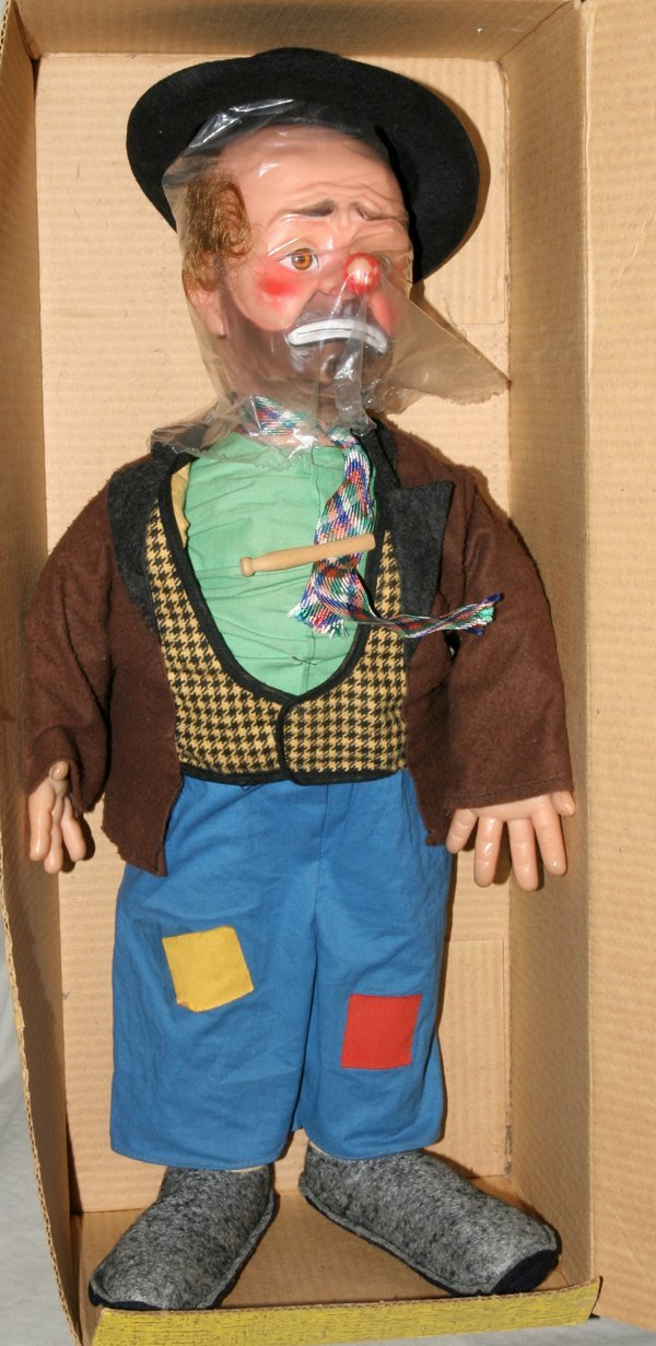 121587: EMMET KELLY'S 'WILLIE THE CLOWN' RUBBER DOLL