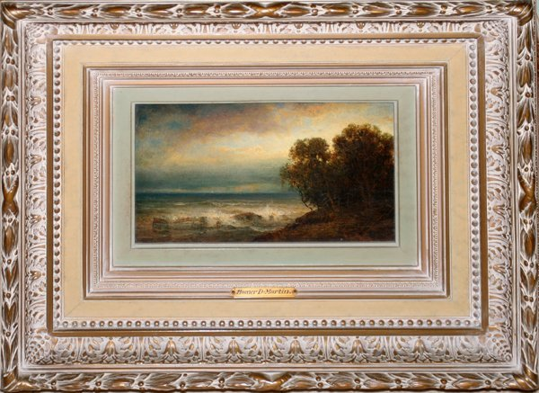 122009: HOMER DODGE MARTIN N.A. OIL COASTAL SCENE