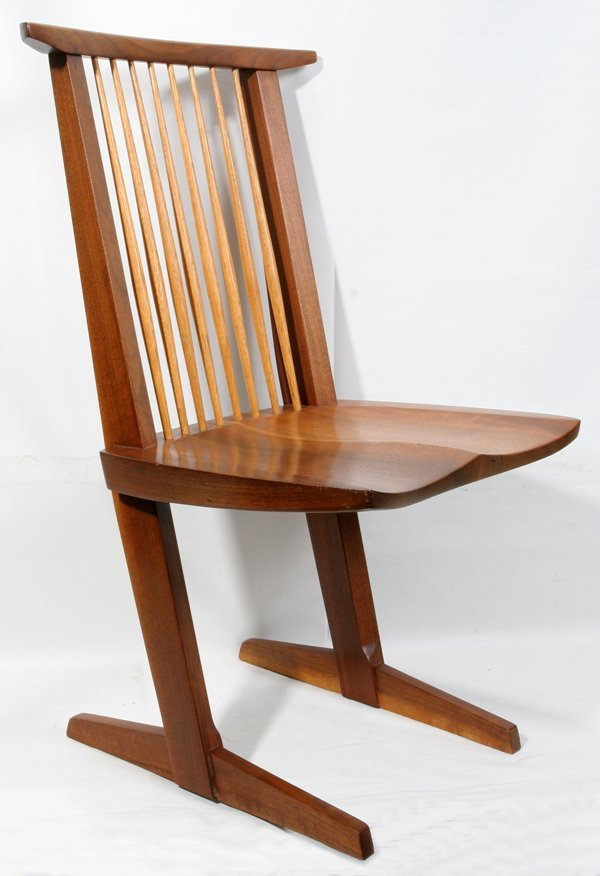 122024: GEORGE NAKASHIMA WALNUT CONOID CHAIR